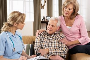 terminally ill patient talking to doctor about Medigap Plan D